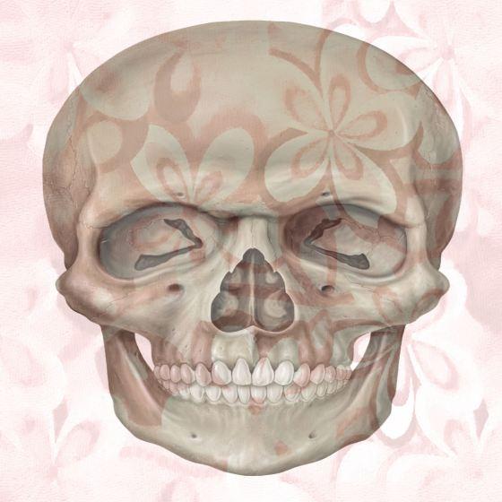 Pink Floral Skull