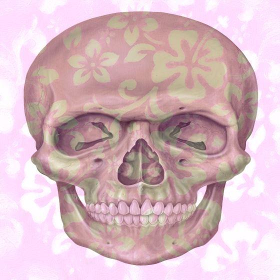 Purple Floral Skull